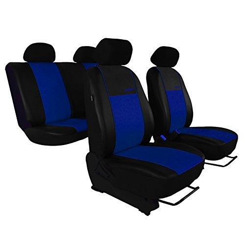 gsmarkt | Bleu Simili Cuir Housses Housse de siège pour voiture universel gallante Housses de protection Housse de protection pour siège auto Siège auto