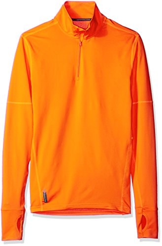Duofold Men's Light Weight THERMatrix Performance Thermal Quarter Zip Pullover, Shocking Orange, (Lightweight Thermal Pullover)