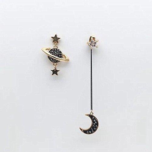 (black earth planet Pluto cosmic explosion models 925 needles popular designer earrings earrings earrings girls)