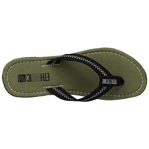 Ethletic Fair Flip vegan - Farbe camping green / funky black aus Bio-Baumwolle