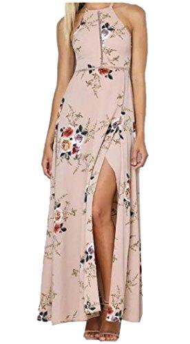 Dress High Coolred Beach Refresh Split As1 Maxi Floral Waist Women 88qFTwt