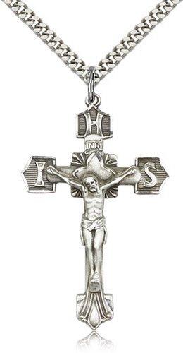Icecarats Créatrice De Bijoux En Argent Sterling Pendentif Crucifix 1 3/4 X 1 1/8 Pouces