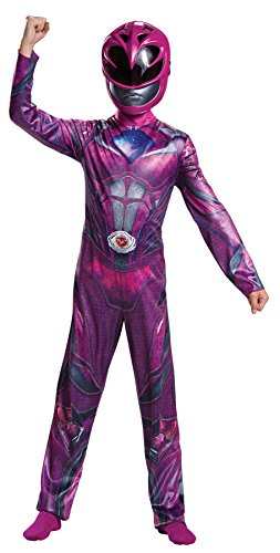 Power Ranger Outfit (UHC Girl's Classic Pink Power Ranger Outfit Funny Theme Child Halloween Costume, Child S (4-6))
