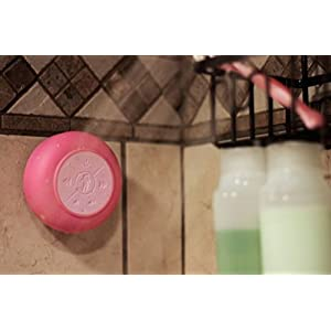 Splash Tunes Pro Shower Speaker – Ultimate Shower Speaker that is Portable, Hands Free, Wireless, Water Resistant, with Built-in Mic and Suction Cup (Lavender Pink)