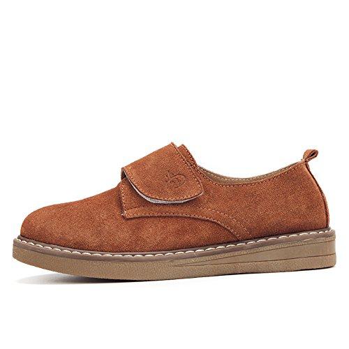 Stq Zapatos De Mujer Con Cordones De Velcro Y Cordones Zapatos Deportivos De Plataforma Con Gancho Y Lazo De Comfort Brown