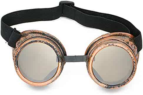 b4e6377b9f6 Skeleteen Steampunk Goggles Costume Accessories - Cyber Victorian Welding  Glasses - 1 Piece