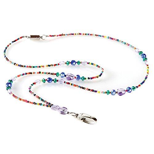 Mardi Gras Beaded ID Necklace ()
