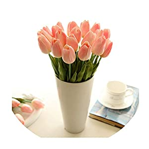 31Pcs/Lot Pu Mini Tulip Flower Real Touch Wedding Flower Artificial Flower Silk Flower Home Decoration Hotel Party 16