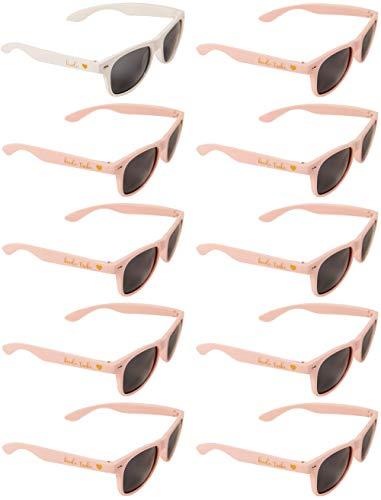 Bride Tribe Sunglasses - Bride-to-be and Bridesmaids Sunglasses for Bachelorette Party (1 x Bride; 9 x Bride Tribe) -