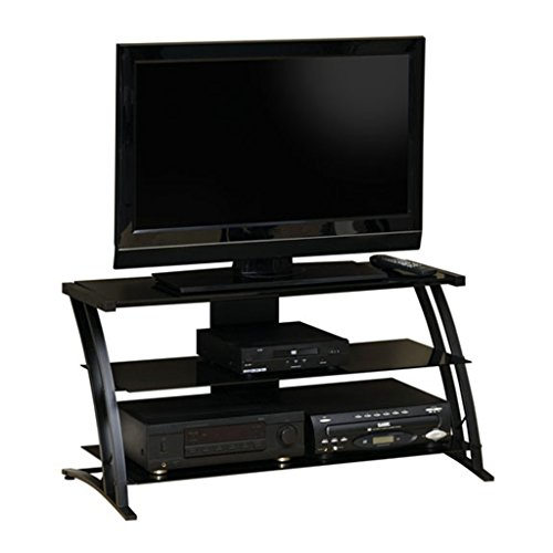 Sauder Deco Panel TV Stand, Black by Sauder