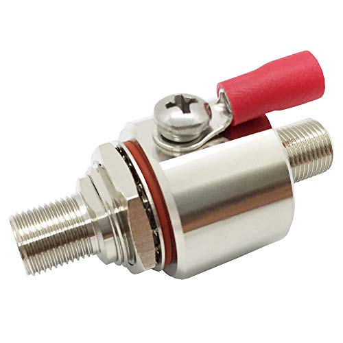 Lightning Arrestor F Type Female to Female Bulkhead with O-Ring DC-3GHz 75 ohm with 90V Gas Tube Surge Arrester