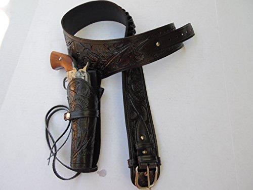 Western Gun Belt Holster Rig - Black - 38