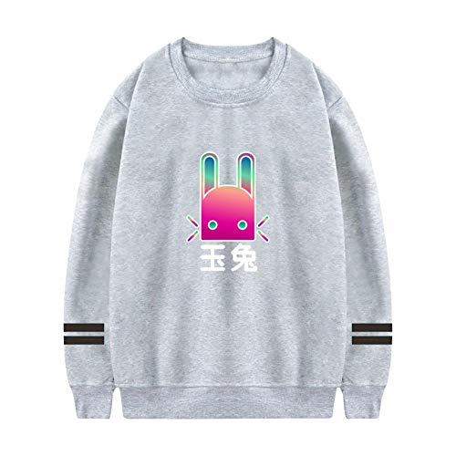 Jade Rabbit Destiny Girls Crew Neck Hooded 3D Pattern Printed Sweaters Comfortable Long Sleeve Athletic Hoodies