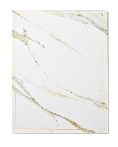Gartner Studios Marble & Gold Foil Stationery, 20 count ()