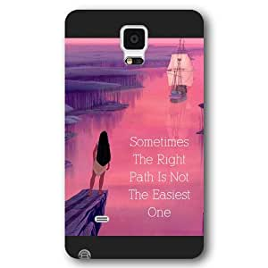 Customized Black Frosted Disney Princess Pocahontas Samsung Galaxy Note 4 Case