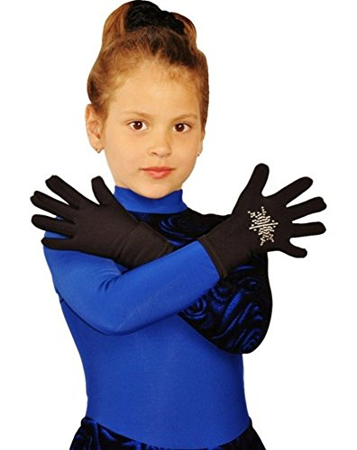IceDress Thermal Figure Skating Gloves with Rhinestones,CXS (4-6)