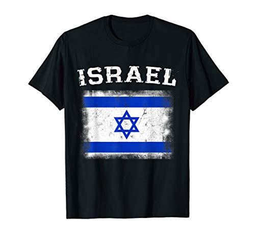 Israel Flag T-shirt - Israel Flag T-Shirt Distressed Retro Israeli Pride Tshirt