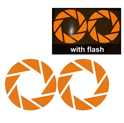 Orange Aperture Science Symbol Sign Camera Shutter Speed Light Optics Focus Reflective Reflector Decal Sticker Flash Night Vinyl PVC For Sport Motorbike Bike Motorcycle Bicycle Helmet Racing Car Door Window Tailgate Truck Trunk Side Rear Laptop Notebook Mac Decal Safety (Safety Signs And Symbols In Science Lab)