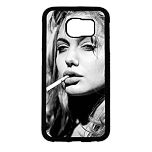 Hipster Cool Angelina Jolie Phone Case Cover For Samsung Galaxy s6 Angelina Jolie Stylish