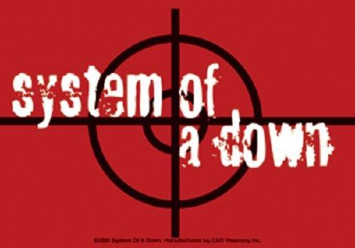 (System Of A Down - STICKER - Red Black Radar Logo - LICENSED NEW)