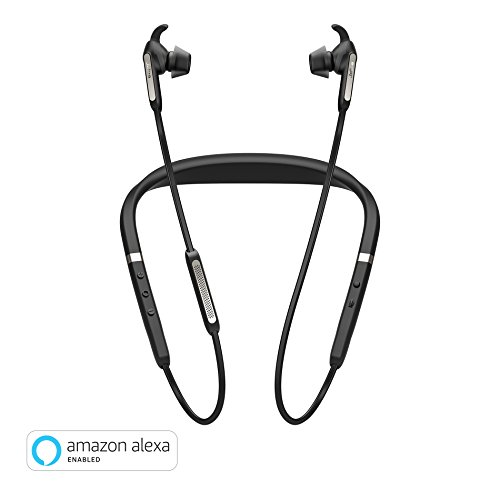 (Jabra Elite 65e Alexa Enabled Wireless Stereo Neckband with in-Ear Noise Cancellation – Titanium Black)