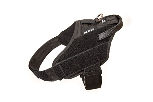Julius-K9 IDC STEALTH Power harness, Size 2; Chest circumference: 71-96 cm/28-37.8'', Black by Julius-K9