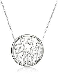 "Sterling Silver Monogram Necklace, 18"""
