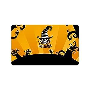 """Custom Personalized Halloween Decoration - Halloween Skull Doormats Durable Machine-washable Indoors / Outdoors Hallowen Doormats Mats es Large Floor Mat Rug Indoor/Outdoors (23.6""""x15.7"""")"""