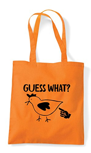 Bag Tote Orange Chicken What Squat Guess Shopper wqgIFA