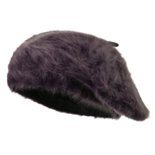 Women's Angora Beret - Purple OSFM