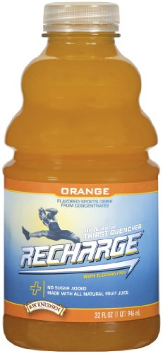 R.W. Knudsen Family Recharge Orange Flavored Sports Beverage Mix, 32 Ounce (Pack of 12)