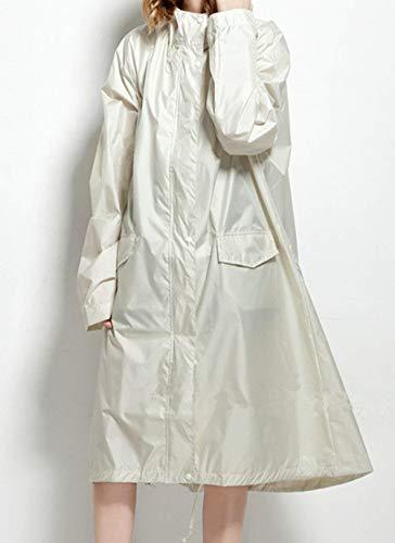 Dames À Pluie Femmes Manteau Fille Capuche Longues Trench Vestes Blanc Respirant Ponchos Coat Classique Mode Imperméable Léger wHAqt0qx
