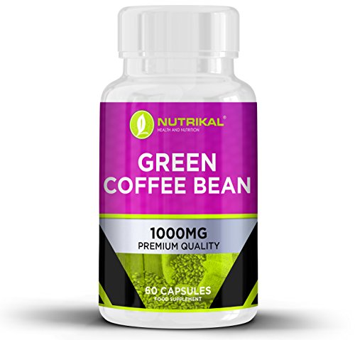 Green Coffee Bean Extract by Nutrikal - Pure Premium Weight Loss and Fat Burning Diet Pills - 2000 mg per Day - 60 Capsules