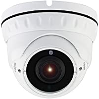 Honic 2MP TVI/AHD/CVI/1000tvl 2.8mm-12mm Varifocal CCTV Camera with Sony Exmor Sensor, 1080P HD Zoom Day Night Vision IR Dome Security Cameras, Waterproof Outdoor Analog Cam for Video Surveillance