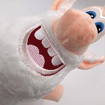 TavasHome Russian Cartoon TV Booba Buba White Pig Plush Doll Cuddly Soft Stuffed Toys 15 inches w/o no Sucker Lanyard: Toys & Games