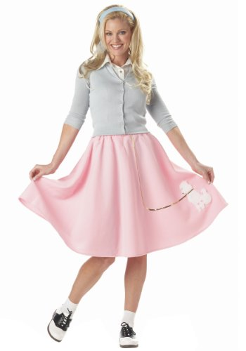 [California Costumes womens Adult Pink Poodle Skirt X-Small] (Poodle Skirt Costume Plus Size)