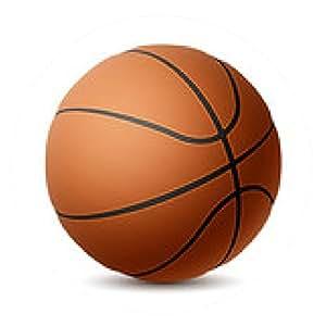 alfombrilla de ratón Baloncesto en blanco - ronda - 20cm