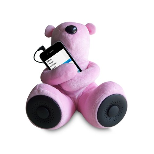 Sungale S-T1 Portable Teddy Speaker For iPod, iPhone, Smartphone, MP3, Media Player (Pink) by Sungale