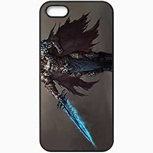 Personalized iPhone 5 5S Cell phone Case/Cover Skin Artwork Lich King Black