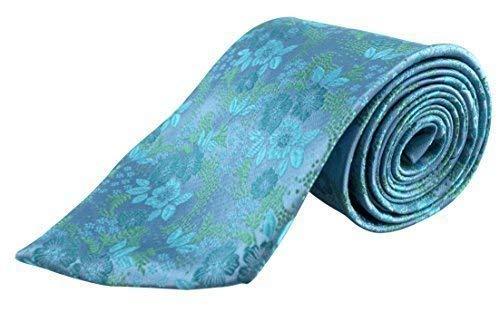 Para hombre turquesa Paisley corbata - Italiano de boda de seda ...