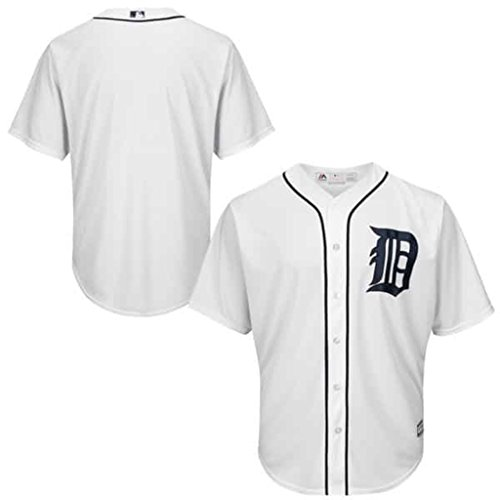 VF Detroit Tigers MLB Mens Majestic Cool Base Alternate Replica Jersey White Big & Tall Sizes (4XT)