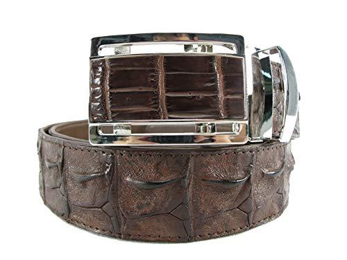 PELGIO Genuine Crocodile Backbone Skin Leather Men's Belt 46