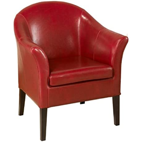 Armen Living 1404 Bicast Leather AKA Club Chair Red