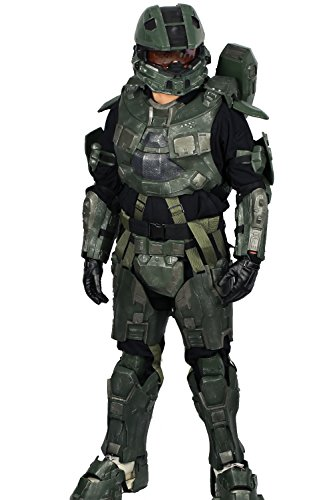 [XCOSER Deluxe Adult Master Armor Costume Suit for Halloween M] (Full Halo Costumes)