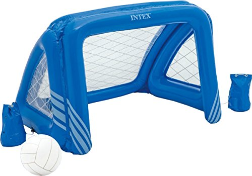 Intex Kids Swimming Pool Aqua Fun Inflatable Floating Water Polo Goal - Polo Water Floating Goal