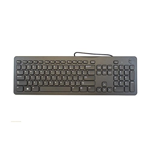 Genuine Dell F8M3Y, KB113P USB Wired Slim Black Quiet Computer Keyboard For Desktop and Notebook Systems 104-Key, QWERTY Layout, by DELL