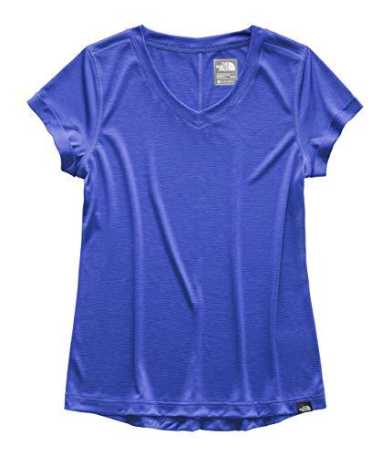 The North Face Women's HyperLayer FD Short Sleeve V-Neck Dazzling Blue Large
