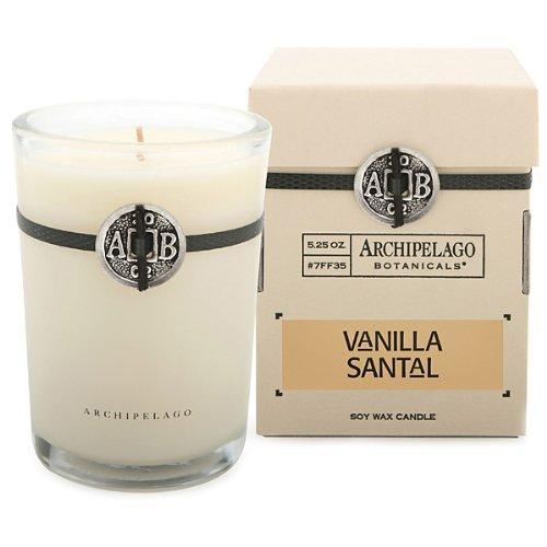 Archipelago Botanicals Signature Series Soy Wax Candle Vanilla Santal