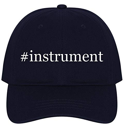 The Town Butler #Instrument - A Nice Comfortable Adjustable Hashtag Dad Hat Cap, Navy, One Size