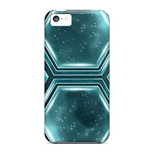 YAmza9736yqxoc Abstract Multicolor Shapes Pentagon Awesome High Quality Iphone 5c Case Skin